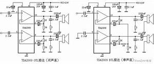 Tda2009 Mono And Stereo Audio Power Amplifier Circuit