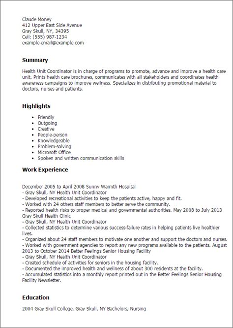 Healthcare Resume Exles Phlebotomist by Health Unit Coordinator Resume Bijeefopijburg Nl