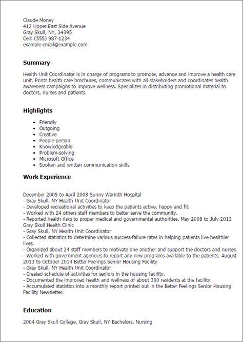 pin health care coordinator resume sle on pinterest