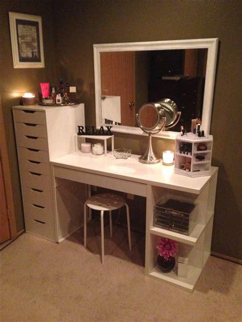 makeup organization  storage desk  dresser unit