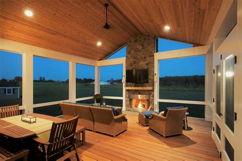 How Much To Build A Covered Porch by How Much Does It Cost To Build A Fireplace In A Screened