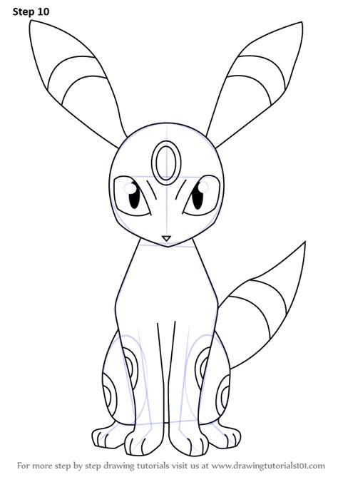 learn   draw umbreon  pokemon pokemon step