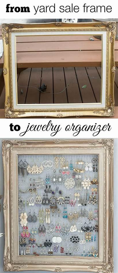 Jewelry Diy Storage Organizer Earring Framed Display