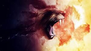 roaring, lion, wallpapers