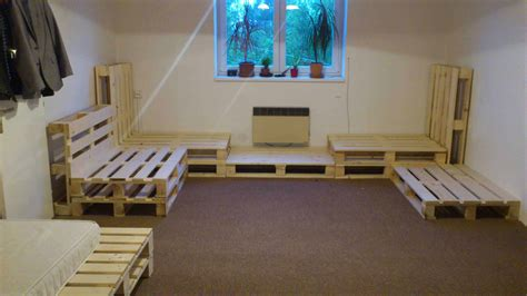 living room installation    repurposed pallets