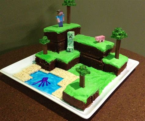 how to decorate a minecraft cake minecraft world cake with pictures