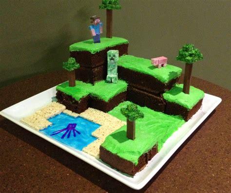 Minecraft World Cake All