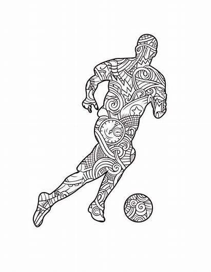 Football Coloring Soccer Fans Lancepublish Fan Pencils