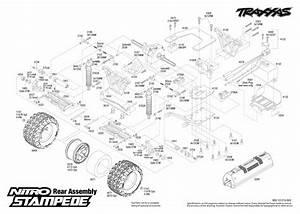 Nitro Stampede  41094  Rear Assembly