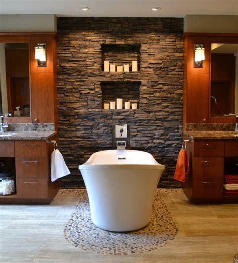 river rock tile  bathroom design  great ideas