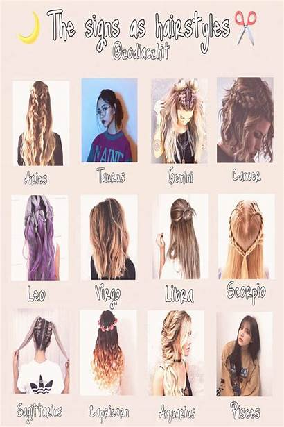 Zodiac Hairstyles Signs Chart Short Easy Pisces