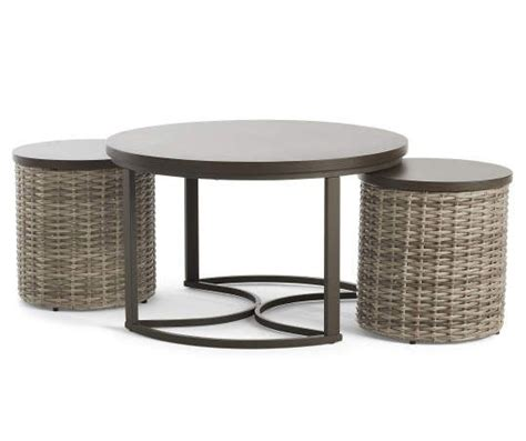 Make your living room the epitome of minimalist scandinavian style with this black and white coffee table set from charahome. Broyhill Capilano Nested Coffee & End Table All-Weather Wicker Set - Big Lots in 2020   End ...