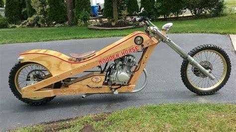 wood motorcycle wooden built chopper bike street horse legal motorbike carpenter hardtail functional fully nj designed work