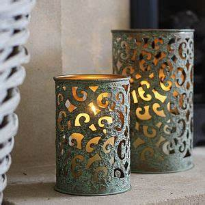 1000 ideas about metal lanterns on pinterest candle With what kind of paint to use on kitchen cabinets for antique metal candle holders