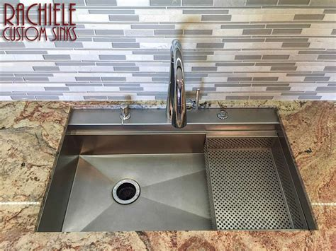 custom kitchen sinks stainless steel custom stainless steel sinks mount and workstation 8541