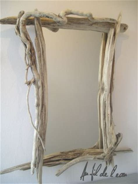 miroir rectangle n 176 1 au fil de l eau bois flott 233