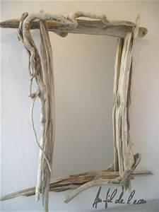 Miroir Bois Flotté : miroir rectangle n 1 au fil de l 39 eau bois flott ~ Teatrodelosmanantiales.com Idées de Décoration