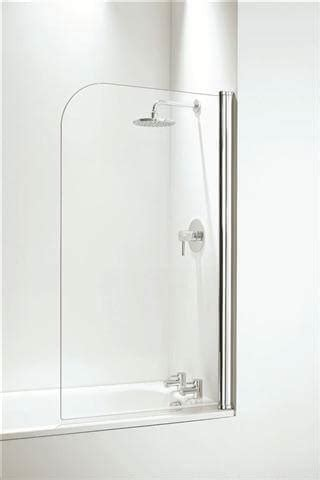 coram white curved shower bath screen chrome  bath