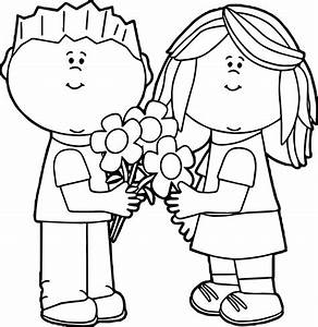 Valentine For Kids Coloring Page | Wecoloringpage