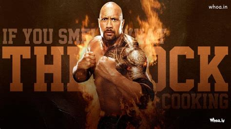 rock fight  fire background hd wwe wallpaper