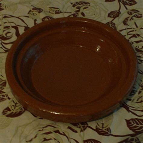 moroccan glazed terracotta dish hand crafted  marrakesh