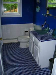 35 cobalt blue bathroom floor tiles ideas and pictures With blue sky bathroom tile floor decoration
