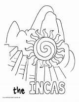 Coloring Picchu Machu Saul Paul Template Becomes sketch template