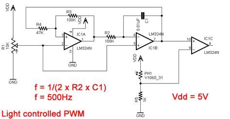 Light Controlled Pwm Generator
