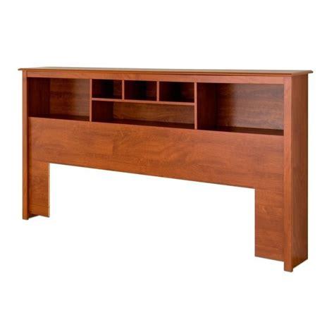 King Bookcase Platform Storage Bed In Cherry Cbk 8400 Kit