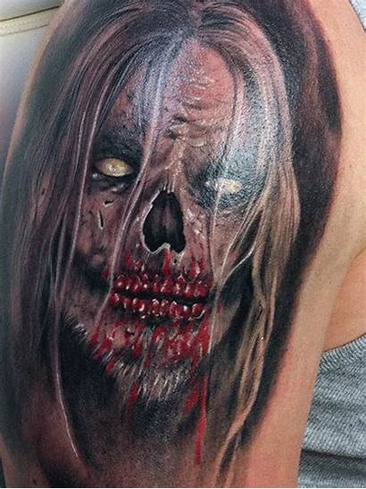 Tattoo Scary 3d Animated Shoulder Tattoos Devil