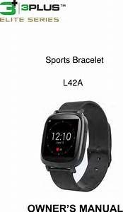 3plus L42a Sports Bracelet User Manual