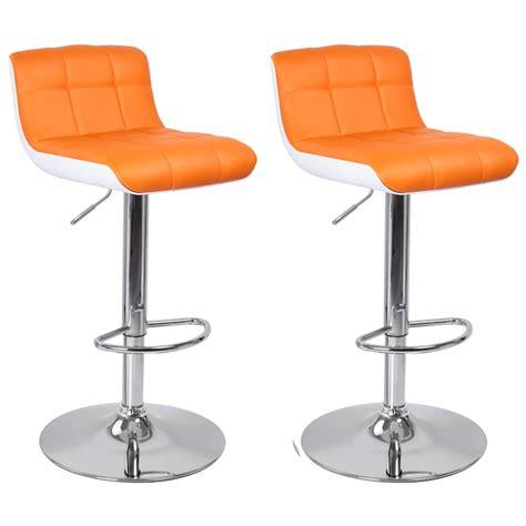 fauteuil de bureau vert tabouret de bar blanc orange lot de 2 majesty tabouret