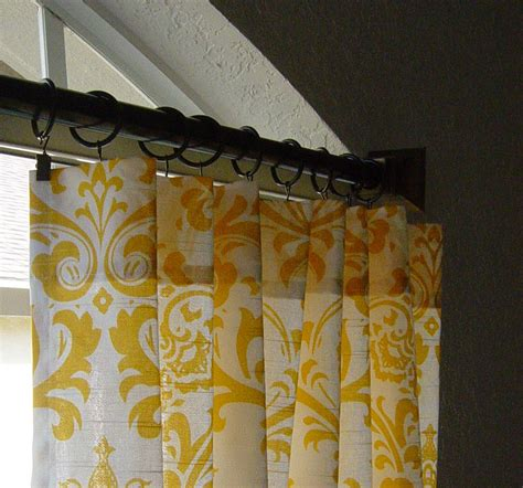 yellow and white damask curtains rod pocket 63 72 84 90 96