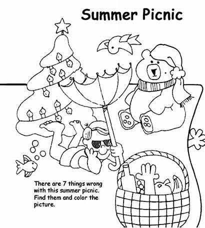 Coloring Summer Picnic Pages Crayola Printable Drawing