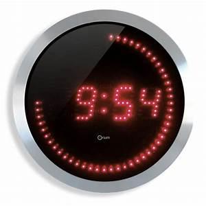Horloge Murale Rouge : horloge murale 30cm led rouge achat vente horloge pendule cdiscount ~ Teatrodelosmanantiales.com Idées de Décoration