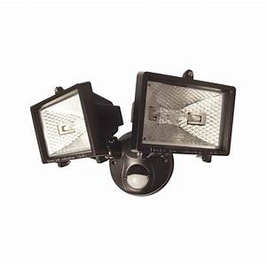 Outdoor motion activated pir security twin light lamp ebay for Outdoor security lights ebay uk