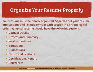 Basic Resume Tutorial How To Write A Simple Resume Using
