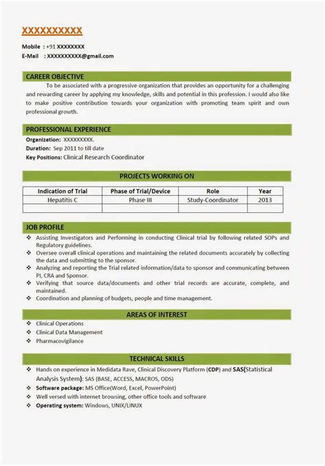 bpharmacy fresher resume models   studychacha