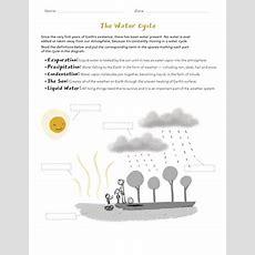 Water Cycle Matching  Worksheet Educationcom
