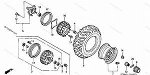Honda Atv 2001 Oem Parts Diagram For Front Wheel