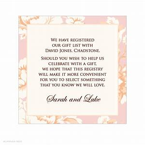 wedding gift registry wording gift ftempo With example of wedding registry cards