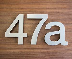 large modern stainless steel house numbers house number With stainless steel address numbers and letters