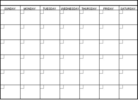 blank calendar template pdf printable blank calendar template pdf
