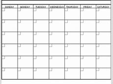 Download Printable blank calendar monthly Printable 2018