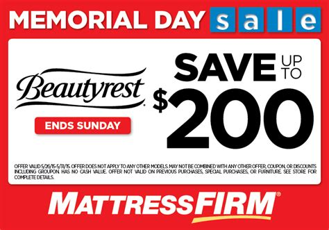 mattress firm coupons memorial day