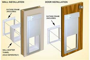 Power pet automatic electronic dog cat doors on sale now for Electronic dog door installation