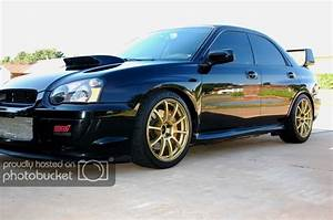 Teaser  Advan Rs 18x9 Et45 In Gold In 2005  Sti Fitment