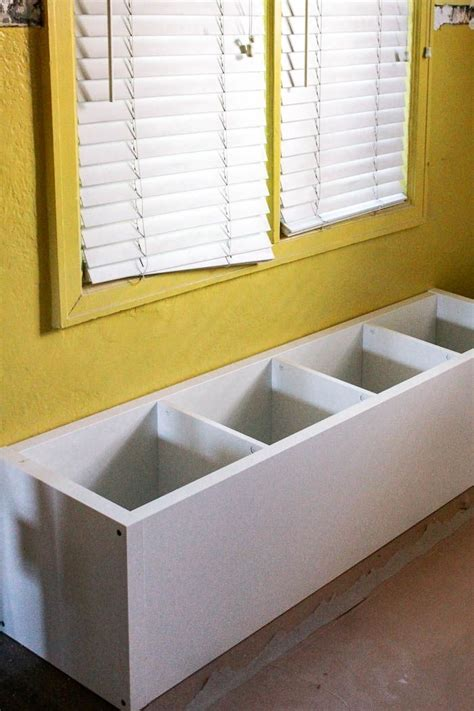 ikea hack banquette seating built  dining room seating