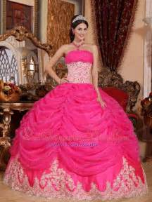mariachi wedding dresses pink gown strapless floor length organza beading quinceanera dress