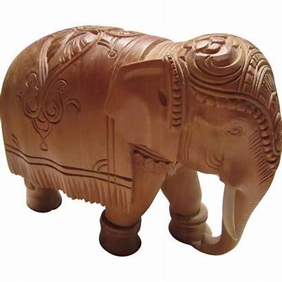 Sandalwood Elephant Carved